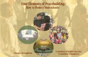 Peace and peacebuilding are the topics of this book published by Canadian Friends Service Committee (Quaker)