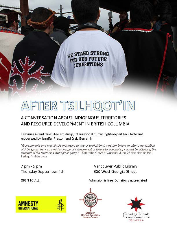 After Tsilhqot'in POSTER