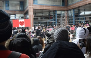Strawberry ceremony  in Toronto, February 14, 2015 honouring and mourning the loss of Indigenous women and girls.