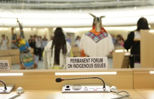 Yellow Bird Apache Dancers Perform in Human Rights Council Chamber at UN Meeting on Rights of Indigenous Peoples. Photo CC-BY US Mission Geneva