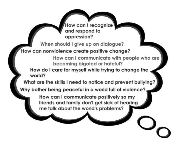 nonviolence questions