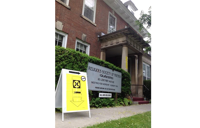 Friends House in Toronto often serves as a polling station during federal elections. Photo credit: Don Alexander