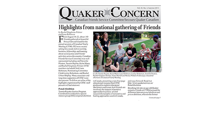 Quaker Concern summer issue is here!