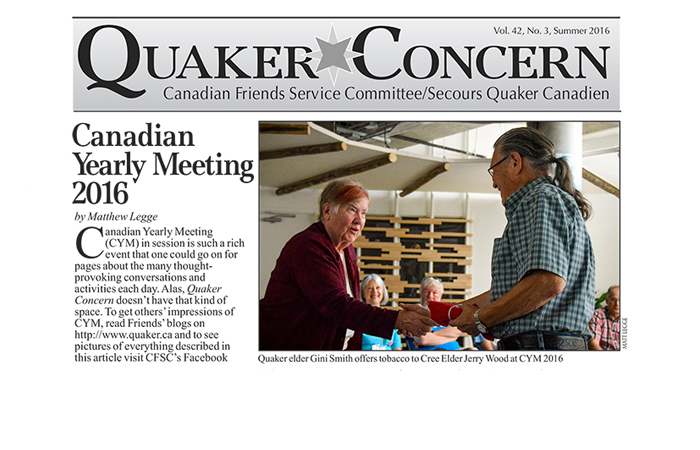 New issue of Quaker Concern