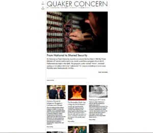 CFSC newsletter Quaker Concern has a new website