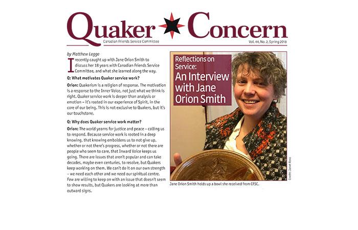 Quaker Concern Spring 2018