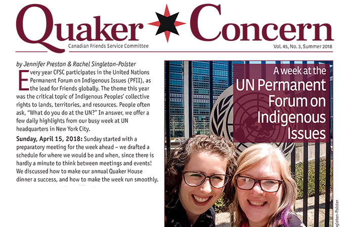 Quaker Concern Summer 2018 issue is here!