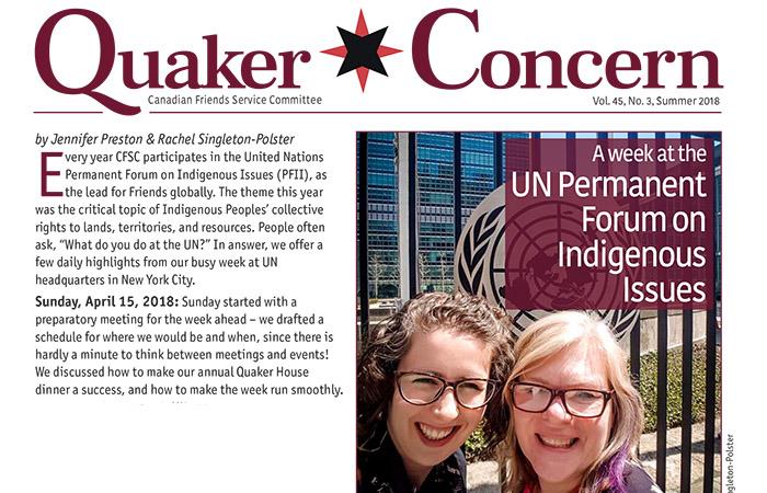 Quaker Concern Summer 2018 issue