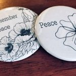 Canadian Friends Service Committee (Quakers) white poppy buttons