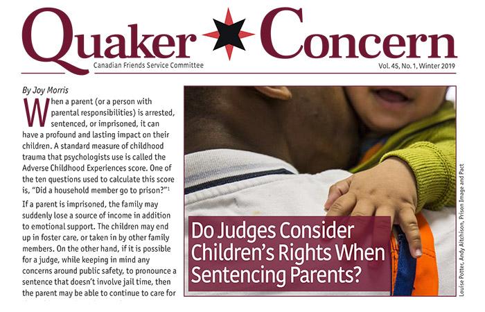 Quaker Concern is back