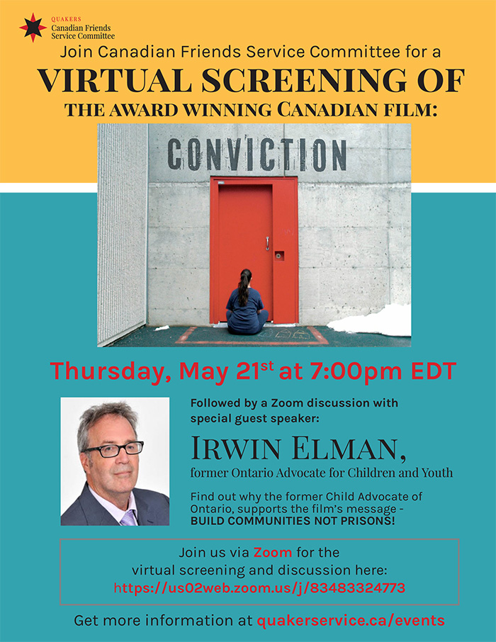 Virtual Conviction Screening Poster