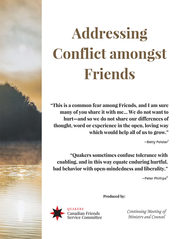 Cover page of Addressing Conflict amongst Friends