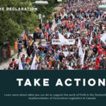 Church groups mobilize in support of UN Declaration on the Rights of Indigenous Peoples Act