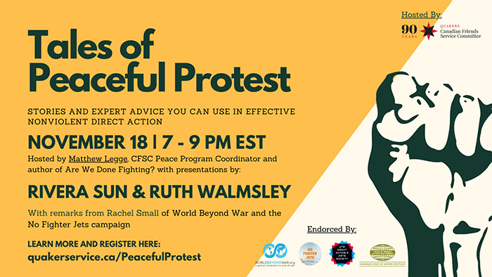 Free event: Tales of Peaceful Protest